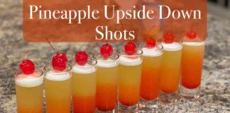 Pineapple Upside Down Cake Shots